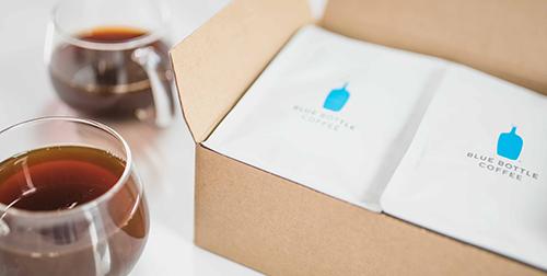 Blue Bottle coffee packets in box